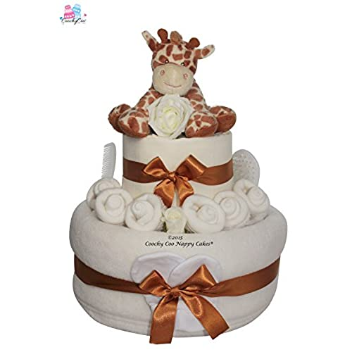 Unique baby gifts amazon unisex giraffe nappy cake baby shower gift hamper free delivery negle Gallery