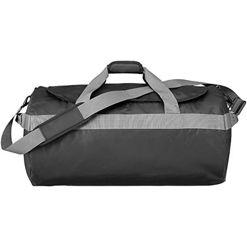 AVENUE - Borsa da viaggio grande - solido nero/grigio solido nero/grigio