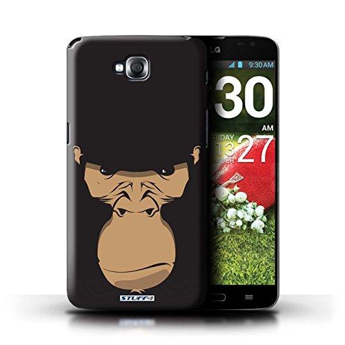 Kobalt® Imprimé Etui / Coque pour LG G Pro Lite/D680 / Cheval conception / Série Museaux Gorille/Chimpanzé/Singe