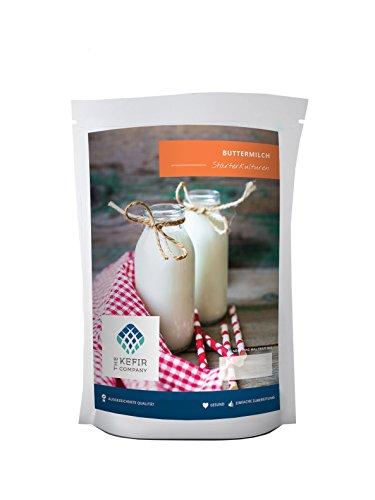 Starterkulturen für Buttermilch – Für die Zubereitung von mindestens 50 Liter Buttermilch
