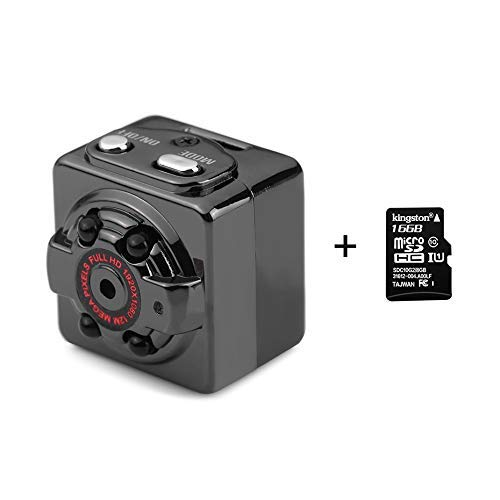 XWZG Mini Kamera sq8 hd 1080p Recorder hd dv Bewegungssensor Nachtsicht Micro cam Sport dv Wireless Camcorder Recorder (Mini-sport-kamera)
