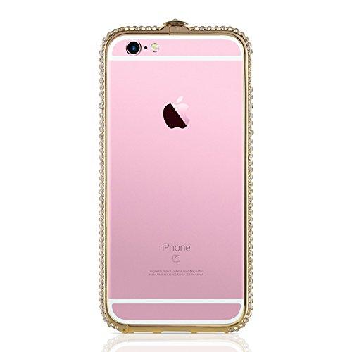 """iPhone 6 Hülle, JAMMYLIZARD [ CRYSTALINE ] Bumper Case für iPhone 6 / 6s 4.7"""" mit Strass, SILBER Zitrone"""