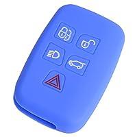 beler Blue Silicone Car Smart Key Cover Case Fob Shell Holder