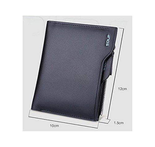 ZXDOP Brieftasche der Männer Mappen-Retro- Männer lange Beutel-Mappe der ledernen Beutel-Männer ( farbe : 2# ) 3#