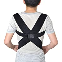 Support Corrector De La Postura De La Clavícula Trasera Ajustable: La Abrazadera del Hombro Cómoda Mejora El Corrector De La Postura para Hombres Y Mujeres,M