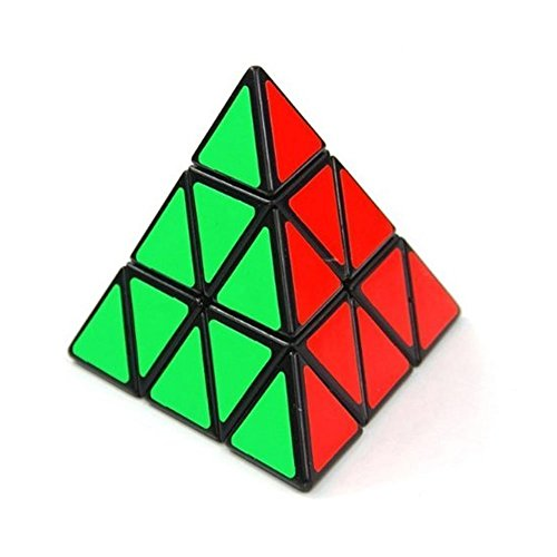 Shengshou Triangle Pyramid Pyraminx Speed Magic Cube Puzzle Twist Toy Game Education - Black  available at amazon for Rs.1510
