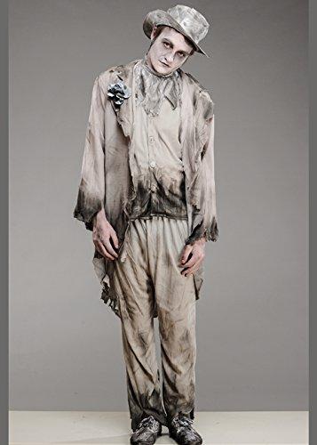 Herren Halloween Ghost Zombie Bräutigam Kostüm Medium (37-40