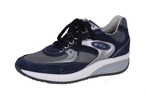 Nero Giardini Sneaker Donna in Camoscio e Tessuto P207051D - 207 Blu (Cam. Incanto)