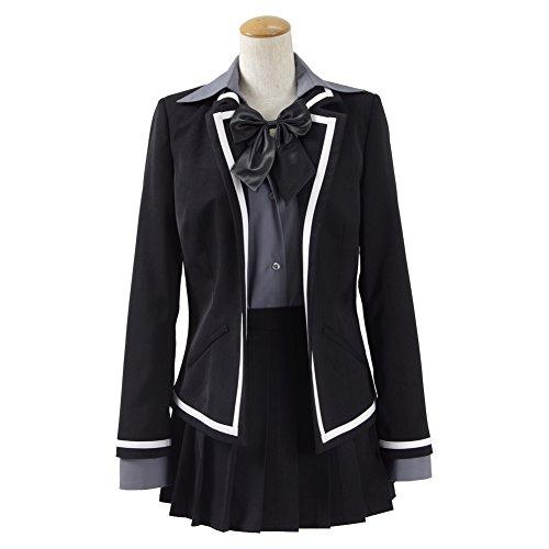 Für Kostüme Kinder Maßgeschneiderte (CosDaddy ® Damen Mädchen Schwarz Grau Rock Cosplay Party Kostüme Schuluniform)