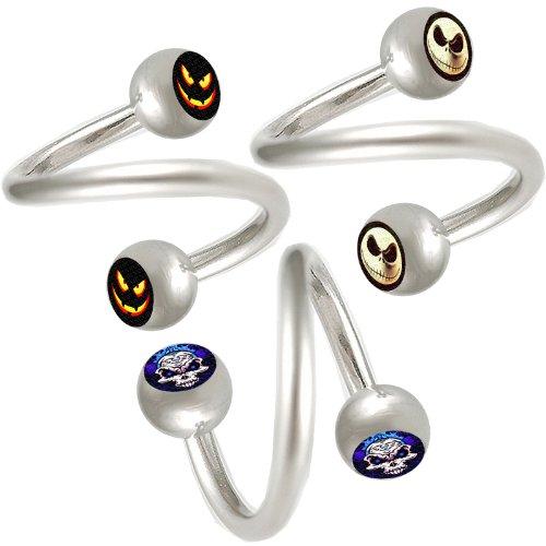 3er set 1,2mm 10mm augenbrauen spirale piercing stahl Lippen ohr Twister körperschmuck BPNE