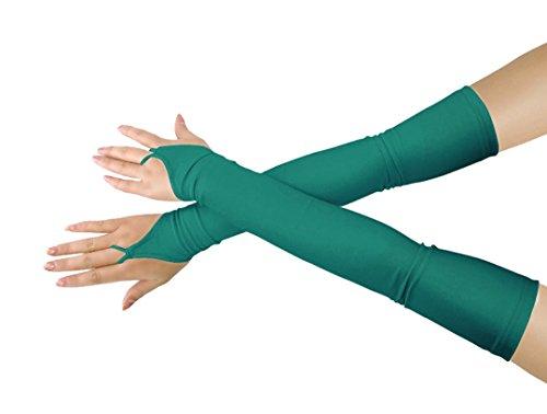 Mädchen 'Boys' Erwachsene Halloween Make-Up Fingerlose Über Elbow Cosplay Kostüm Handschuhe ()