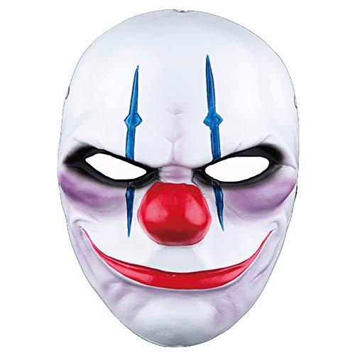 Clown Räuber Kopf Maske Neuheit Erwachsene Helm Hut Halloween 27 * 21 cm Dekoration Karneval Dekoration Emulsion Schaum (Limited Edition),B