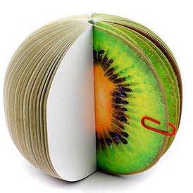Gifts UK® Früchte Gemüse Cupcake Dessert Weihnachtsbaum 3D Form Cute Sticky Notes Neuheit Lesezeichen Memo Index Tab Page Marker * UK Lager * Kiwi Fruit