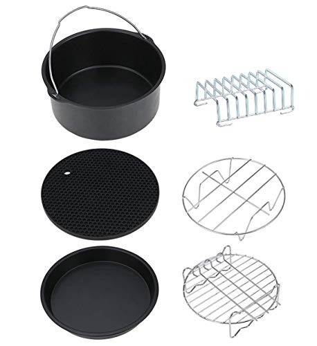 Palazen Kit de accesorios para freidora de aire caliente de 6 piezas para todas las marcas de freidoras profundas (3.2QT-5.8QT)