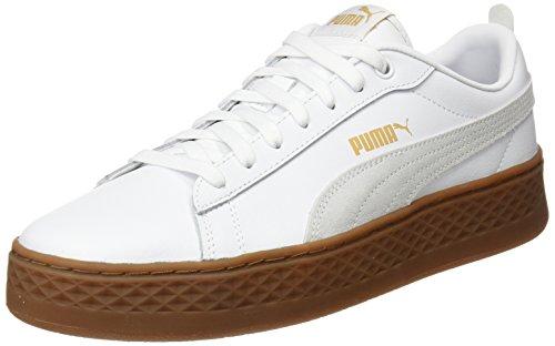 Puma Damen Smash Platform L Sneaker, Weiß (Puma White-Puma White), 40.5 EU