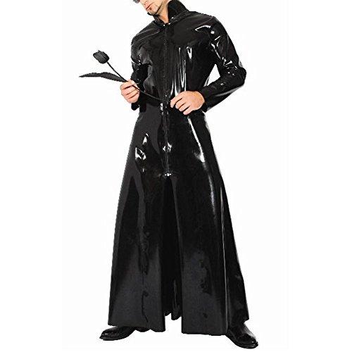 Umhänge Unisex Mantel Rolle Cape Roben Front Reißverschluss PVC Leder Stehkragen Cosplay Kostüm - Trunks Cosplay Kostüm