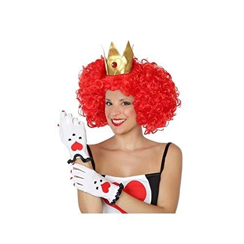 Disfrazjaiak Pack peluca y guantes Reina de Corazones