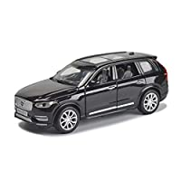 GLJJQMY Model Car Volvo XC90 Off-road Vehicle SUV1:32 Simulation Die-casting Alloy Toy Car Sound And Light Pull Back Model Car (color : Black)