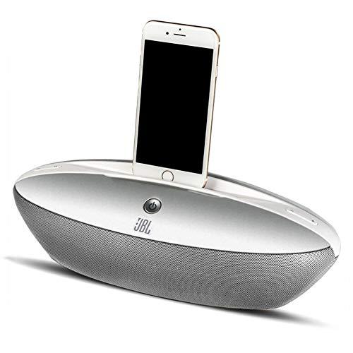HLL Bluetooth-Lautsprecher-Dockingstation Wecker FM-Radio-Blitz-Dock für iPhone 5/5S/5C/6/6/6S/7/7/iPad Air Mini-iPod mit Anruffunktion, Grau (Mit Dock Iphone Wecker 5c)