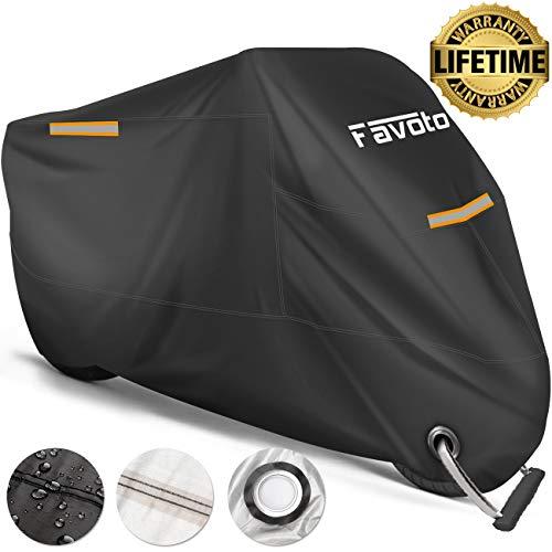 Favoto Funda Moto Cubierta Motocicleta 210T Protectora