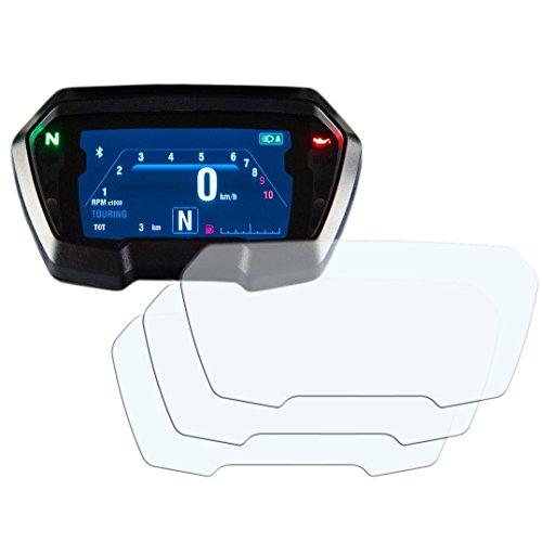 3 x Ducati XDiavel (inc. 'S') Displayschutzfolie Tachoschutzfolie Screen Protector - Anti-Glare Kit Anti Glare Screen Protector