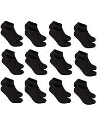InterSocks 12 Pares de Calcetines cortos para hombre y mujer, blanco-negro-gris