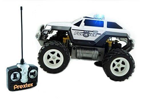 Prextex Camion de la Police Télécommandé Voiture de police pour les garçons...