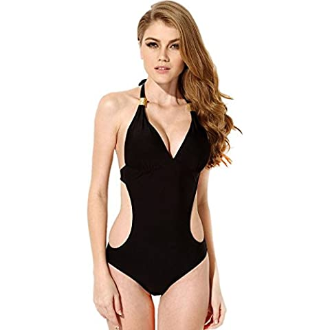 HanLuckyStars Bañadores de Tejidos Cómodos Bikinis Push Up Bañador Trajes De Baño Swimwear Bikini Ropa De Baño Traje Mujer Ropa Playa Escotado Por Detrás para Mujer