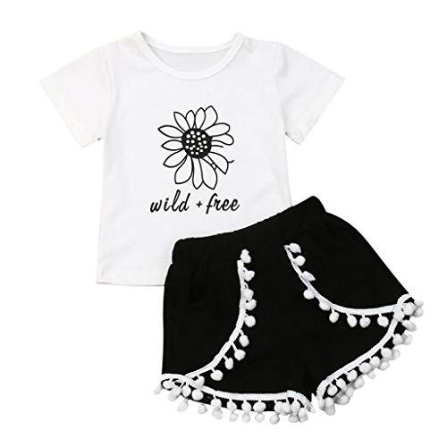 Ropa Bebé Niñas Niños 2pc Verano Camiseta Manga