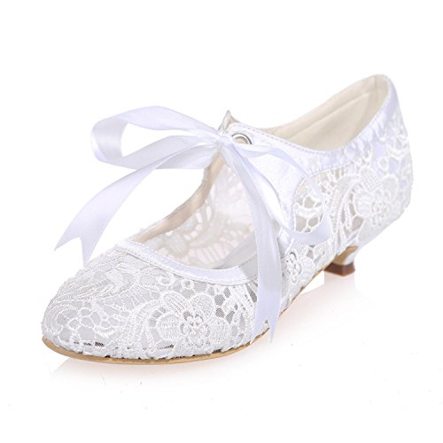 L@YC Scarpe Da Sposa Da Donna Pizzo Fiori / Pizzo Party Night 9001-06 E altri Colori Disponibili White