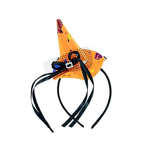 en Stirnband Hexenschnalle Hexenband Requisiten Hexen Hut Halloween Kleine Mütze Stirnband Hexenband Halloween Kopfband Hexen Hut Haarband Party Vorräte für Frauen Kinder Headwear ()