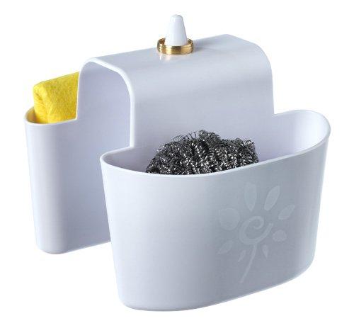 vladon-portaspugna-per-lavello-con-porta-anelli-senza-montaggio-doppio-per-sapone-jantex-organizer-e