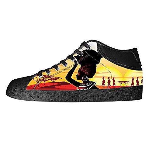 Dalliy African woman Women's Canvas Shoes Lace-up High-top Footwear Sneakers Chaussures de toile Baskets B
