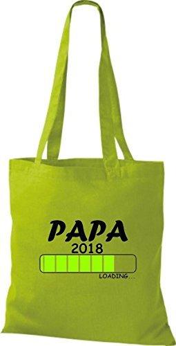 Sacchetto Di Stoffa In Cotone T-shirt In Tessuto Papa 2018 Caricamento Kiwi Regalo Di Nascita