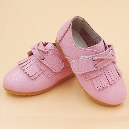 Igemy Baby Mädchen Mode Prinzessin Leder Tanzen Schuhe Pink