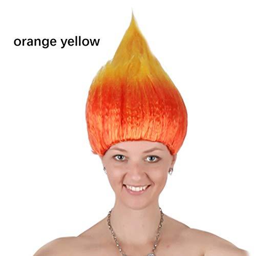 ore Halloween Perücke bunte Haarteil kreative lustige Haar Perücke Party Kostüm Perücke für Urlaub ()