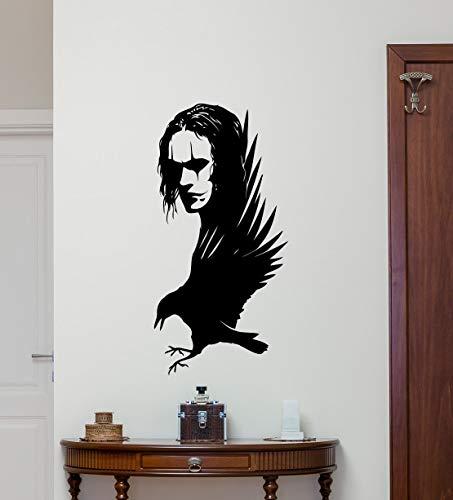 haotong11 Die Krähe Wandtattoo Film Vinyl Aufkleber Poster Home Decor Art Dekorationen Wohnzimmer Removable Wandbild 42x85 cm -