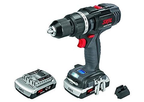 Skil Masters 2899ME Perceuse Visseuse sans fil 18V à 2 Vitesses (2 Batteries Li-ion 1,5Ah, 65 Nm, LED Lampe)