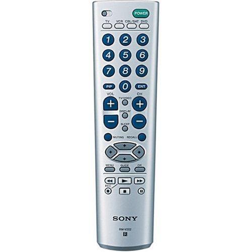 Sony rm-v202IR Wireless Drücken Sie die Tasten silber Fernbedienung–Fernbedienungen (IR Wireless, silber, DVD/Blu-Ray, SAT, TV, VCR, Universal, Drücken Sie die Tasten) -
