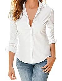 fcdd6c7649 Amazon.es  camisa blanca mujer - Mujer  Ropa