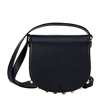 ALEXANDER WANG WOMEN'S 20R0189001 BLACK LEATHER SHOULDER BAG
