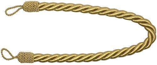 Legacci in raso per tende dorati spessi grandi lunghi 81cm in corda intrecciata x 2 pezzi