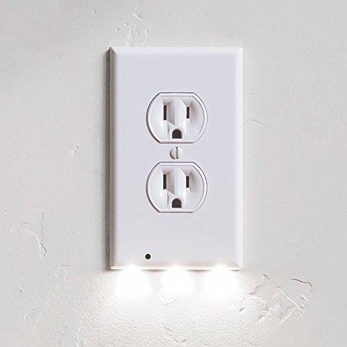 Lite-duplex-led (snappower Guidelight-Steckdose Abdeckungen an mit LED Nacht Licht, Duplex, Schwarz, SYNCHKG117015)