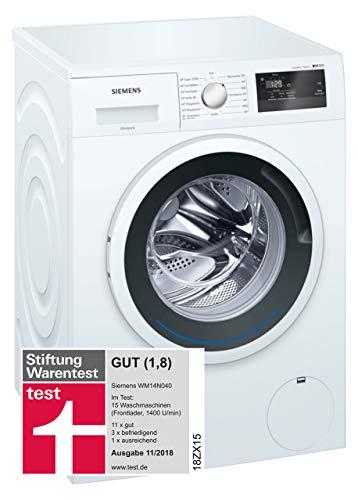 Siemens iQ300 WM14N040 Waschmaschine / 6,00 kg / A+++ / 137 kWh / 1.400 U/min / Schnellwaschprogramm / Nachlegefunktion / aquaStop