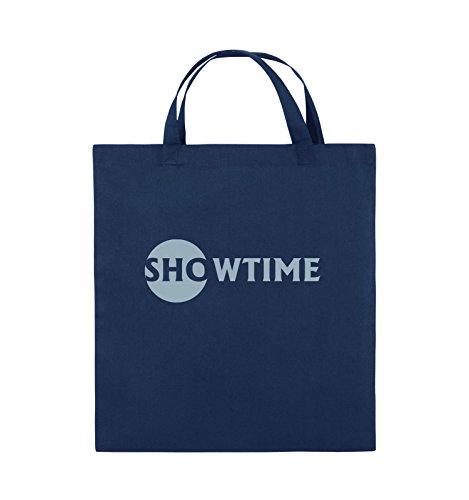 Comedy Bags - SHOWTIME - BILLIONS - Jutebeutel - kurze Henkel - 38x42cm - Farbe: Schwarz / Silber Navy / Eisblau