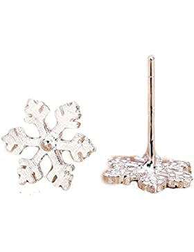 Miya® luxus 925 Sterling süß Silber eleganter Schneeflocke Ohrringe