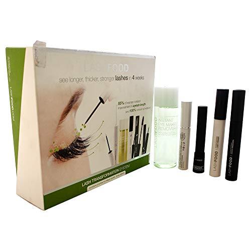 LashFood Lash Transformation System: (1x Eyelash Enhancer 3ml, 1x Lash Primer 4ml, 1x Mascara 4ml,...