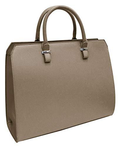 Damen Handtasche Eva Original V&M Designer Tasche Saffiano Optik