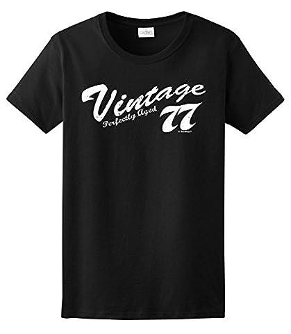 40th Birthday Gifts Vintage 1977 Distressed Ladies T-Shirt XXX-Large Light Blue