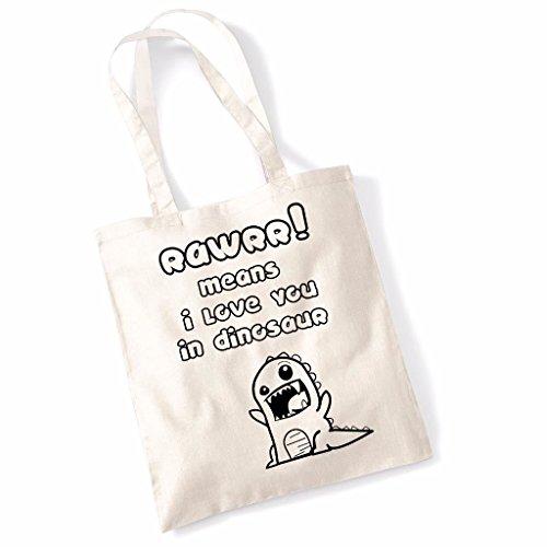 Tote bag pour femme Rawr Dinosaures imprimé sac épaule sacs en toile